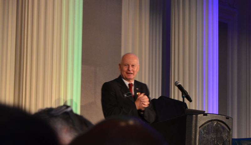 PAMPLIN MEDIA GROUP: JULES ROGERS - Secretary of State Dennis Richardson spoke as the keynote at the luncheon.