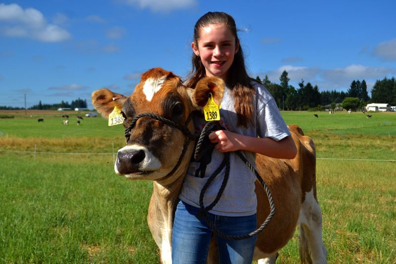 POST PHOTO: BRITTANY ALLEN - Elizabeth Collman and her Jersey cow, Marge.