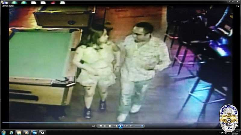 COURTESY PHOTO - This surveillance video from Tequila Bar and Gril in Keizer shows missing Woodburn woman Cynthia Martinez with a person of interest, Jaime Alvarez-Olivera.