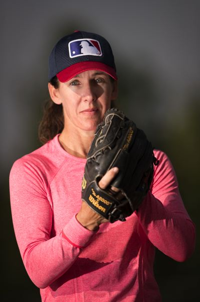 TIMES PHOTO: JAIME VALDEZ - Beaverton resident Ila Borders is coaching for the U.S. women's national baseball team in Washington, D.C., this week.