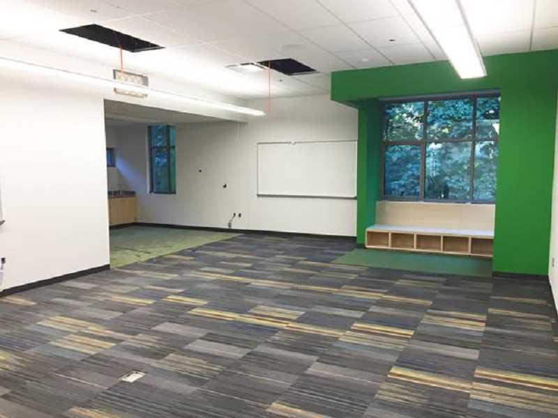 SUBMITTED PHOTO - Sunset Primary classrooms are mostly finished and furniture has been delivered. All that is left is for teachers to unload their supplies ahead of the first day of school.