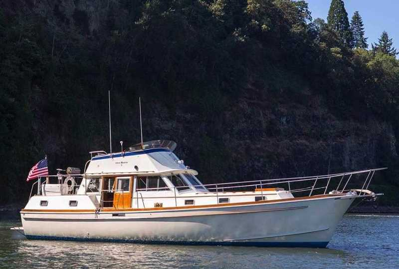REVIEW PHOTO: SAM STITES - True North, Steve Cridland's 43-foot Gulfstar Mark II Trawler, is the flagship vessel for yNaut Charters, although the company is looking to build a consortium of boat owners.