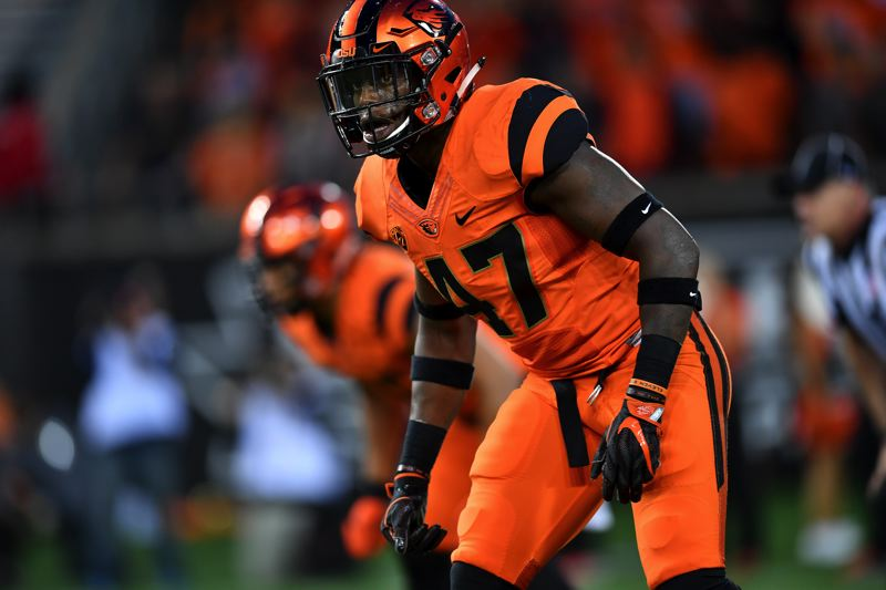 COURTESY: SCOBEL WIGGINS - Bright Ugwoegbu is back at outside linebacker for Oregon State after being sidelined last last season with a foot injury.
