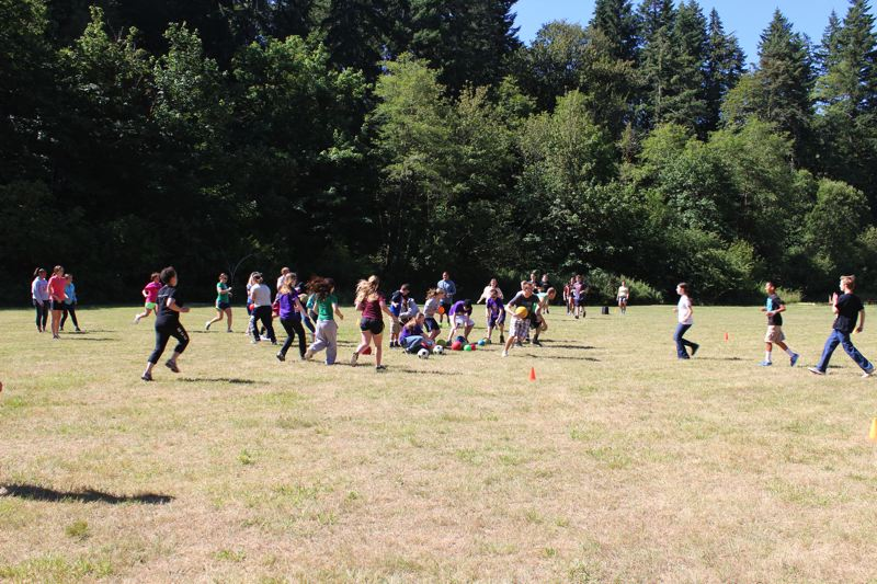 COURTESY PHOTO: GALES CREEK CAMP FOUNDATION - Games are a big part of the Gales Creek Foundation camps. The foundation is suing Bank of America in connection with the theft of camp funds.