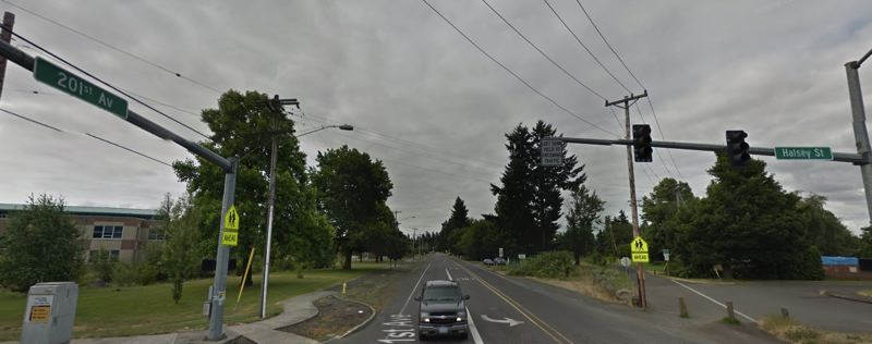 COURTESY GOOGLE MAPS - Northeast Halsey Street near Southeast 202nd Avenue in Fairview.