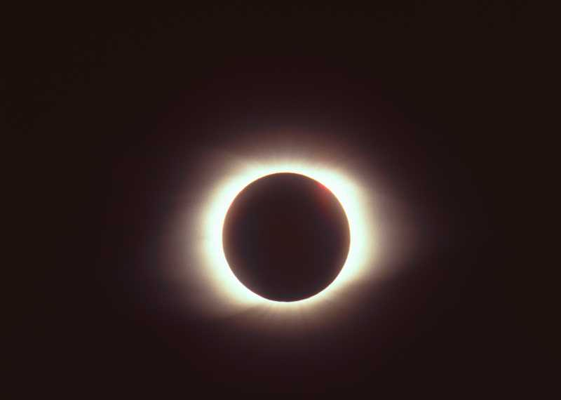 INTERNET PHOTO - A photo of a prior solar eclipse.