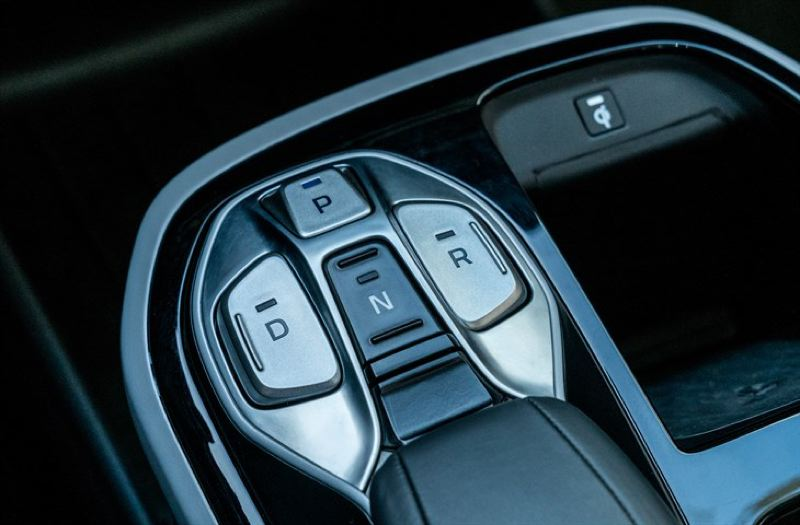 HYUNDAI MOTOR CO. - The transmission control in the 2017 Hyundai Ioniq Electric is a little different but easy to get used to.