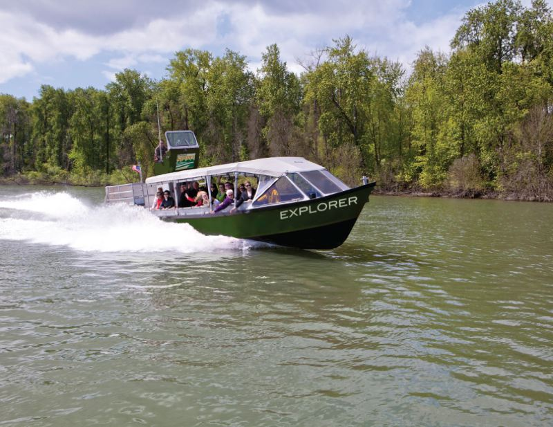 COURTESY PHOTO - A popular ride is the Portland Spirit's jetboat 'Explorer,' which goes considerably than the big boat.