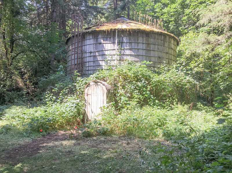 PHOTOGRAPHY © 2017 TURNER ENTERTAINMENT NETWORKS, INC., A TIME WARNER COMPANY. ALL RIGHTS RESERVED. - A water tower at Milo McIver State Park was transformed into a witch's hut last week during the filming of an episode of The Librarians.