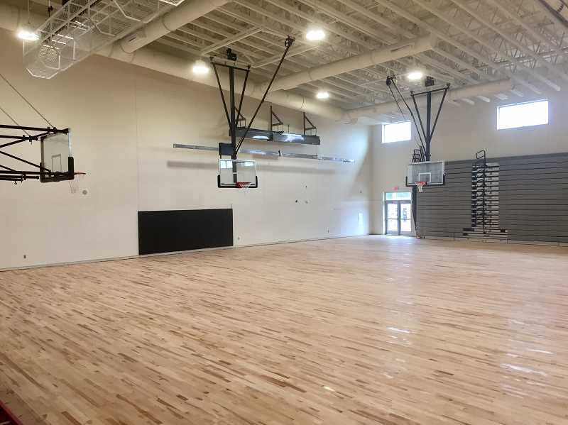 SUBMITTED PHOTO - Meridian Creek's gymnasium is ready for students.
