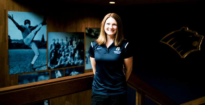 PHOTO COURTESY OF GFU - George Fox University has hired Natalie Turner as the first coach of its new swim program. A former NCAA Division III All-American for Whitworth, she previously served as coach of Spokane Waves Aquatic Team.