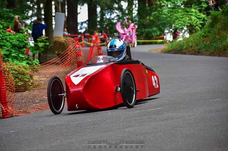 COURTESY: JASON DESOMER PHOTOGRAPHY - Hundreds of racers and spectators will gather this Saturday, Aug. 19, at the 20th annual Adult Soap Box Derby on the west side of Mt. Tabor.