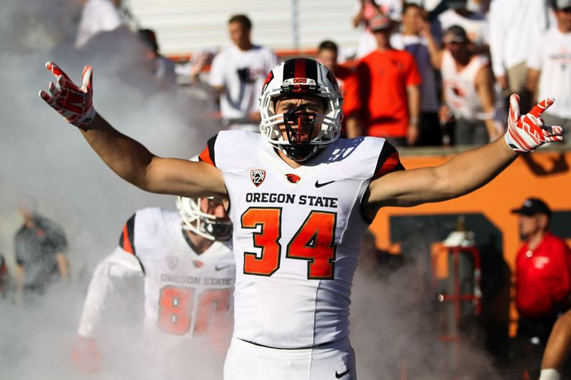 PAMPLIN MEDIA GROUP - Central Catholic graduate Ryan Nall, a Sandy native, is hoping for big things in his junior season in Oregon States backfield.