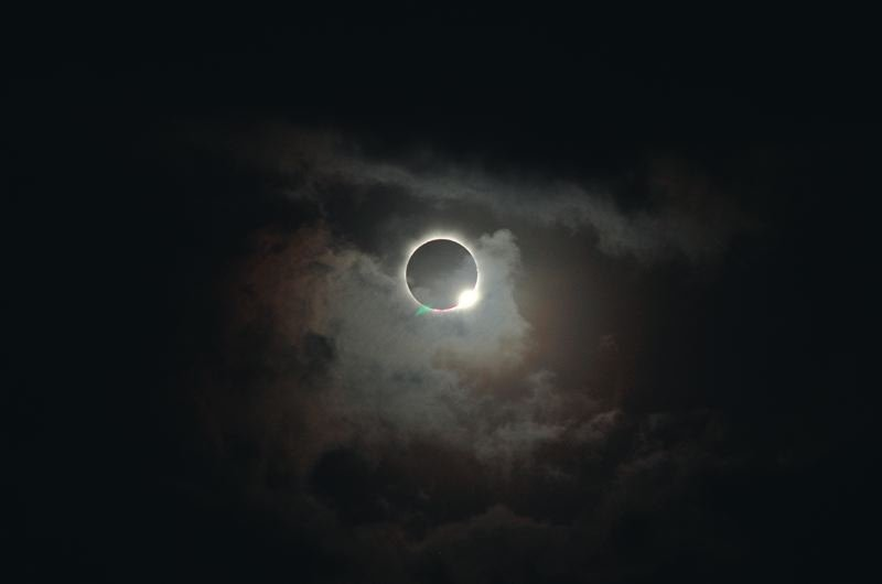COURTESY PHOTO - The solar eclipse hits Monday morning, Aug. 21, around 10:15 a.m.
