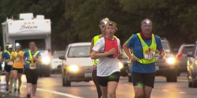 KOIN 6 NEWS PHOTO - Runners along the Hood to Coast route. The 2017 Hood To Coast relay race takes place Friday, Aug. 25, and Saturday, Aug. 26.