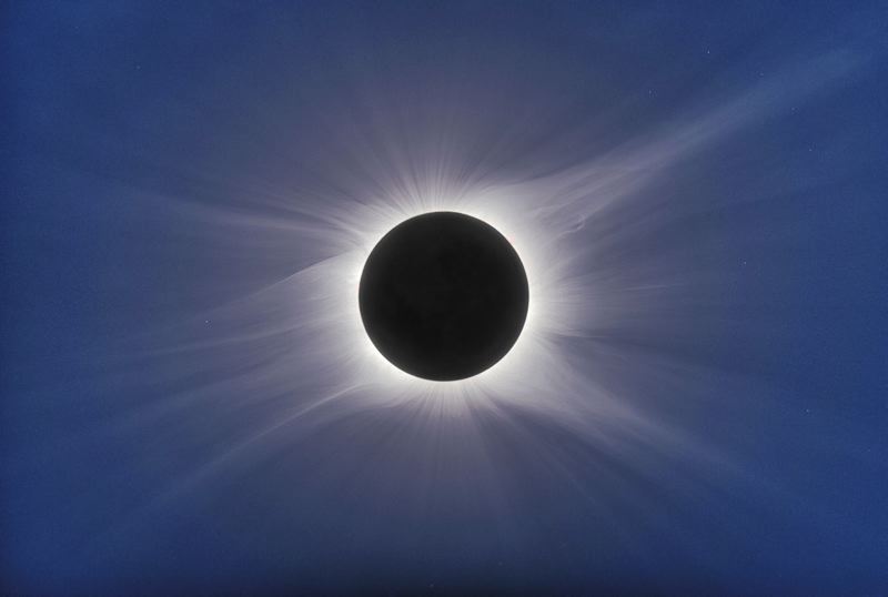 COURTESY PHOTO: DENNIS DI CICCO/SKY & TELESCOPE - Totality as seen from Easter Island on July 11, 2010.