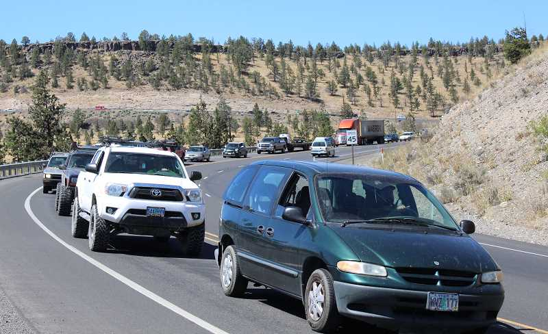 JASON CHANEY - Visitors to the Symbiosis solar eclipse festival caused traffic jams going into and out of Prineville up to 40 miles long on Wednesday and Thursday.
