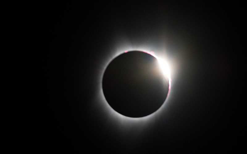 LON AUSTIN - Solar eclipse during totality in Crook County
