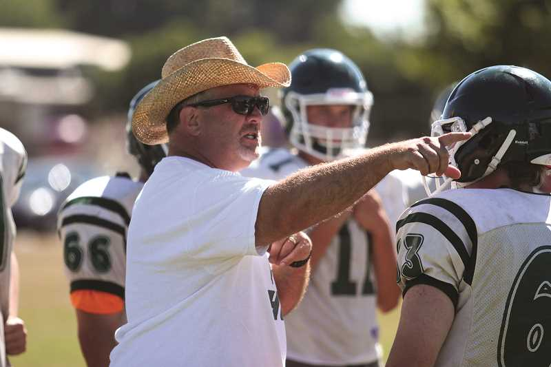 PHIL HAWKINS - North Marion head coach Doug Bilodeau and the rest of the coaching staff are using fall practices to determine where best to play the team's young cast of players.
