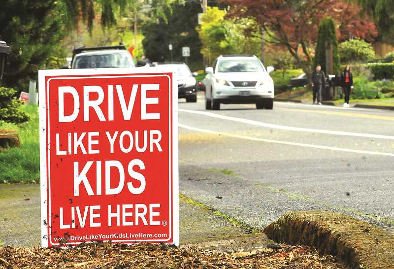 TIDINGS FILE PHOTO - At its next meeting Aug. 31, the board will discuss traffic calming measures in response to concerns about speeding in areas like West A Street.
