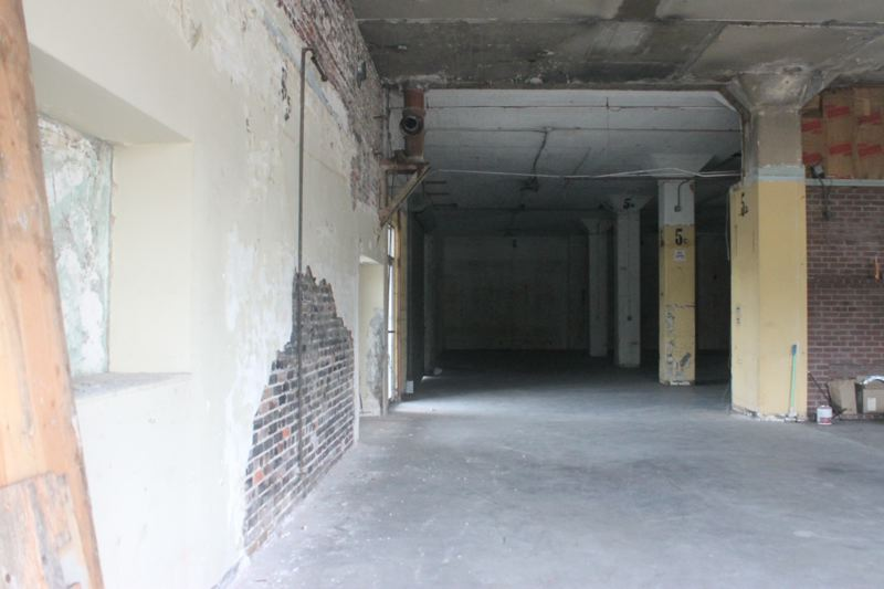 TRIBUNE PHOTO: LYNDSEY HEWITT - A look at the insides of 320 N.W. Hoyt St. show that the site would clearly need many upgrades before operating as a homeless shelter.