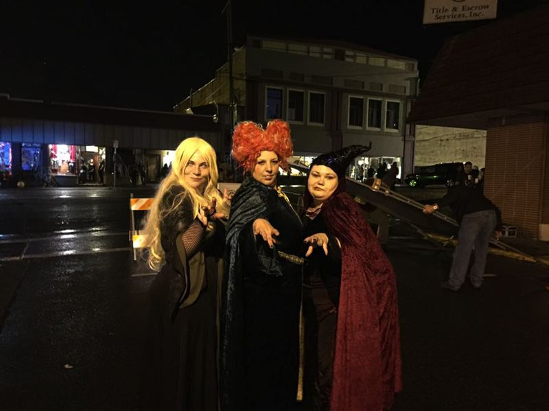 PHOTO COURTESY OF AMANDA NORMINE - A group of women dress up as the cast of the film 'Hocus Pocus' during Spirit of Halloweentown in 2016. Volunteers dressed in costumes like this will be stationed throughout the city during activities this year to provide information about local businesses and events.