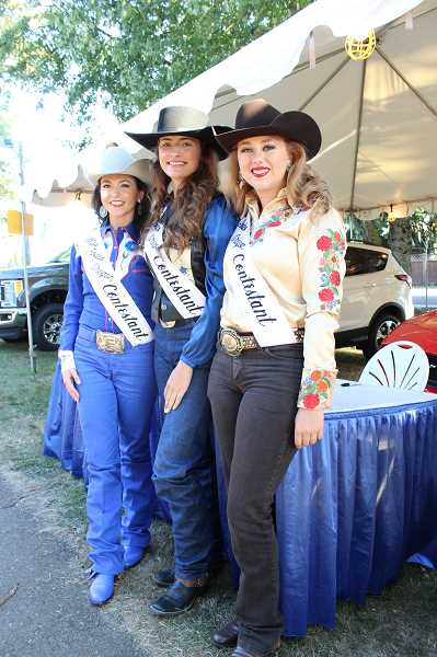 PHOTO BY KRISTEN WOHLERS - Pictured are the Miss Rodeo Oregon 2018 contestants from left to right: Jessi Cornforth of Oregon City, Randi Johnson of Hines and Nicole Rice of Scappoose.