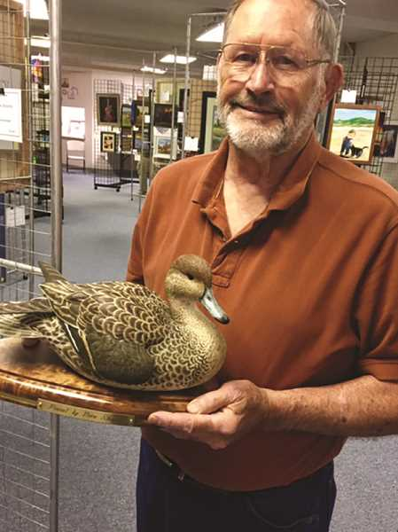 SUBMITTED PHOTO - Vern Skogen of Canby won the Best of Show award for 'Pintail Duck.'