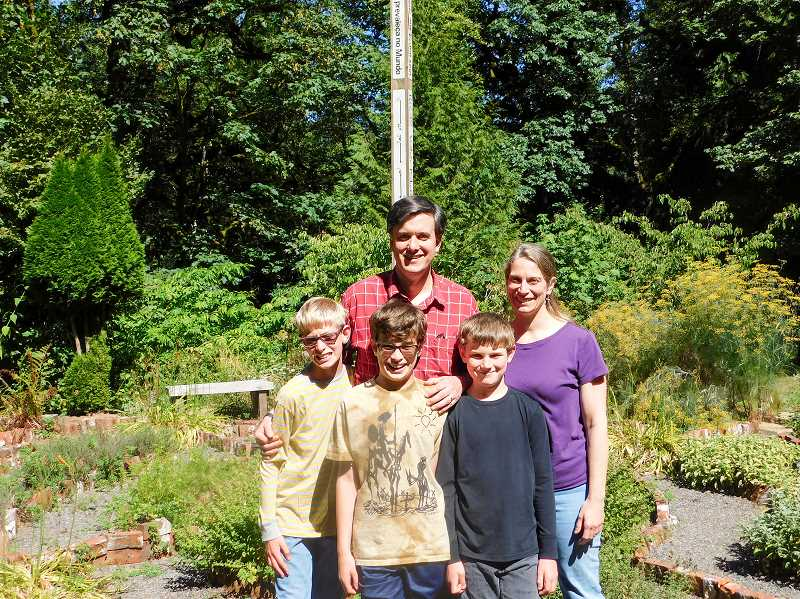 ESTACADA NEWS PHOTO: EMILY LINDSTRAND - Dan Benson lives at the retreat center with his wife Karen and their sons Nathan and Jeremy, 11, and Peter, 9.