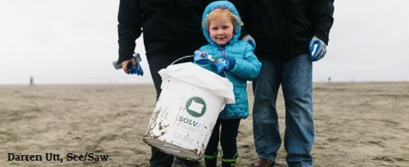 COURTESY SOLV - Oregonians of all ages volunteer at SOLV's annual Beach and Riverside Cleanup projects.