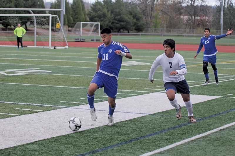 PIONEER FILE PHOTO - Madras returns senior Jonathan Reynoso (left), who was named the 4A boys Player of the Year last year in a season that included 19 goals and 12 assists.