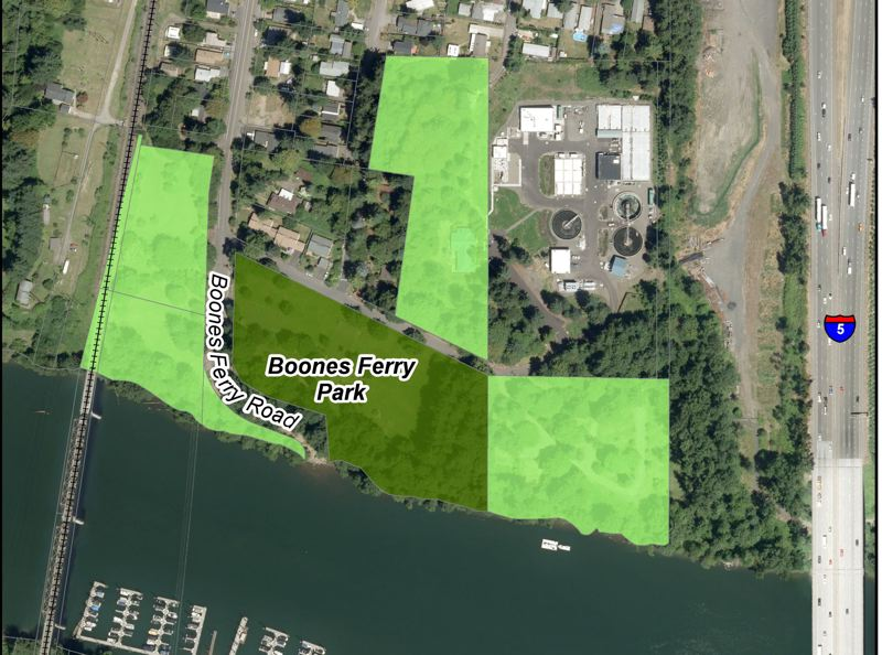 SUMBITTED PHOTO - The existing, 7-acre Boones Ferry Park is set to be expanded on to several parcels of City-owned, undeveloped land.