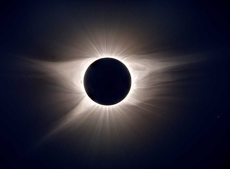 PHOTO BY JEFF BOTTMAN - A composite photo of the total eclipse.