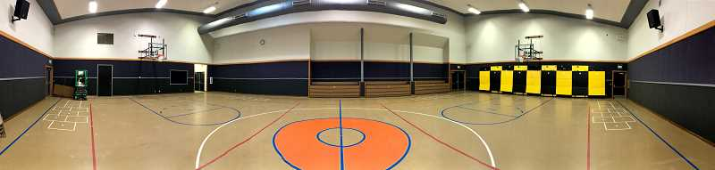 COURTESY PHOTO - Over the summer, walls were repainted and re-carpeted in the Molalla Elementary School gymnasium.