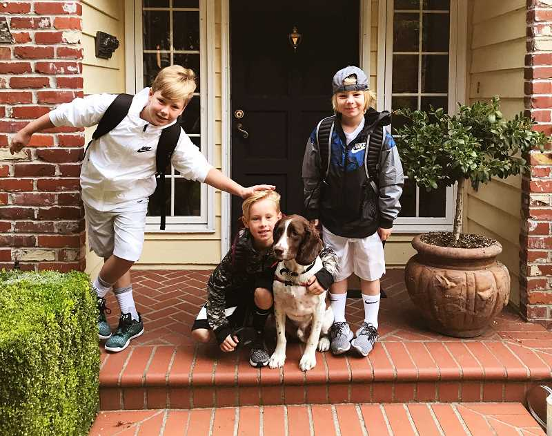 SUBMITTED PHOTO - Watch out, Forest Hills: The Shean brothers are back! That's fifth-grader Jagar, second-grade twins Vallen and Julian and their furry best friend, Alvin — all ready for the first day of school this week. Look for more great photos (send your favorite to gstein@lakeoswegoreview.com!) in the Sept. 7 issue of The Review and online at lakeoswegoreview.com.