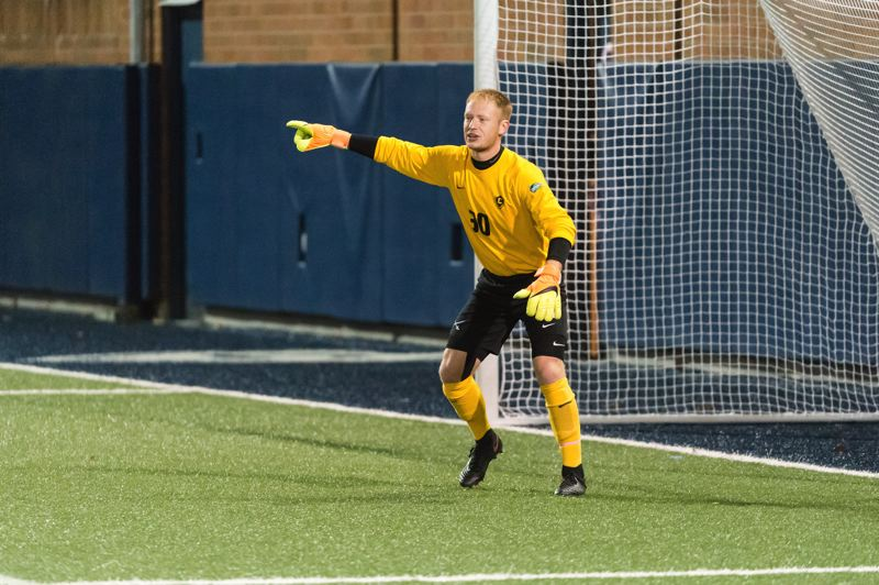 COURTESY: CHRISTOPHER OERTELL - Grant Alcorn returns to the Concordia men's soccer team to guard the net for the Cavaliers.