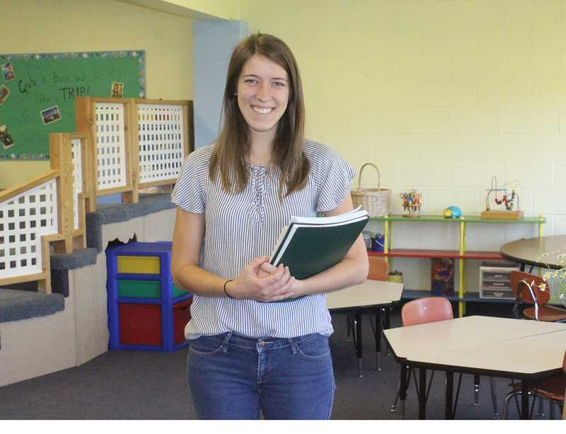SUSAN MATHENY/MADRAS PIONEER - Teacher Melissa McCrery prepares to welcome students this fall.