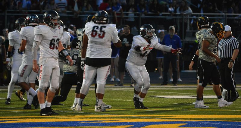 TIMES FILE PHOTO - Westview middle linebacker Mante Woods is back at the center of the Wildcat defense this year.