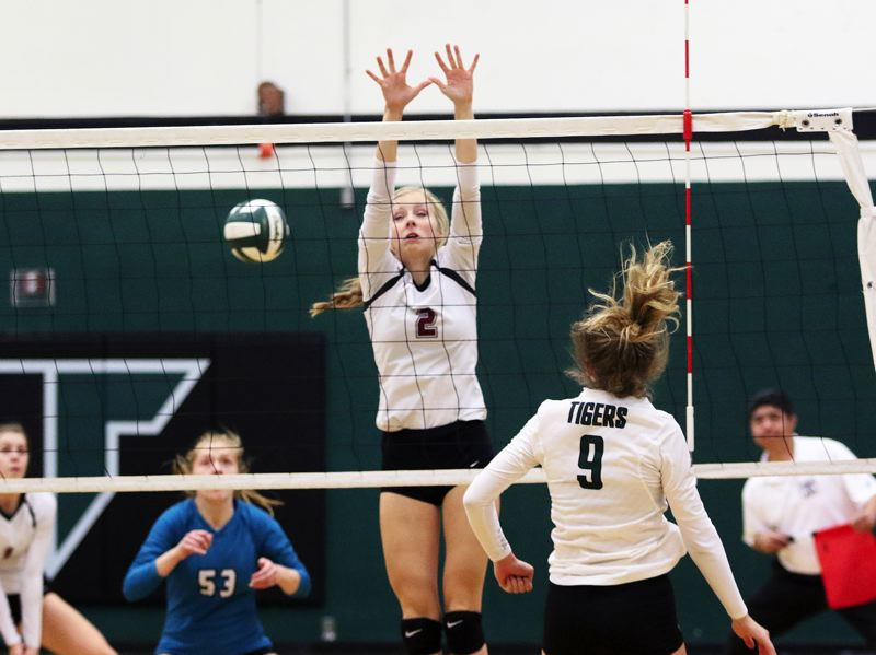 DAN BROOD - Sherwood High School senior Katie Folsom (2), shown here in a match from 2016, is one of the key returnees for the Lady Bowmen this season. The Sherwood squad is taking high hopes into Three Rivers League play.
