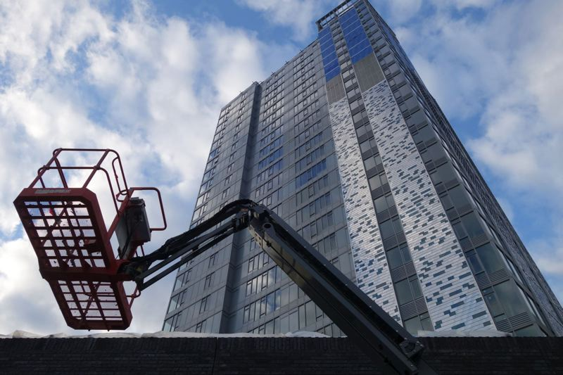 PAMPLIN MEDIA GROUP: FILE PHOTO - NV, a beautiful residential tower that opened in the Pearl last year, has 37 vacant listings out of 284 total units.