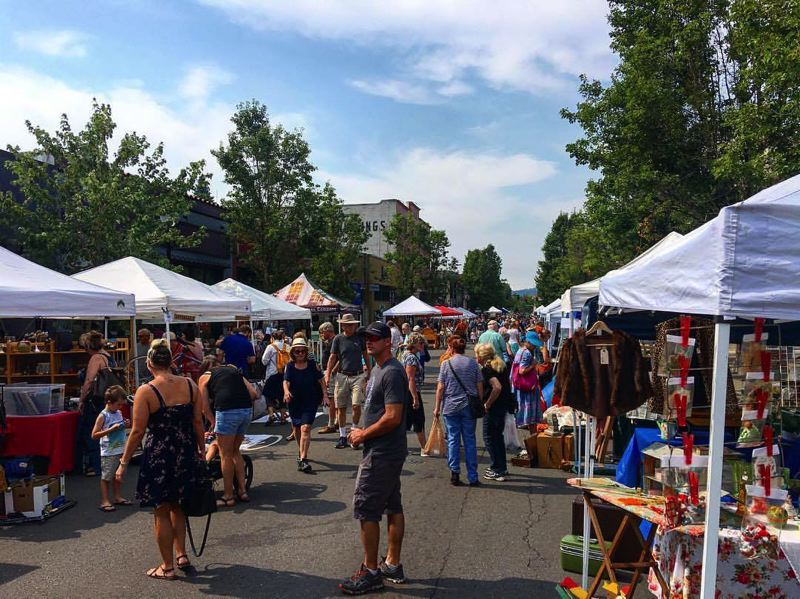 PHOTO COURTESY: DOCA - Oregon City promoted last month's 22nd-annual Antique Fair as a way for people to enjoy walking downtown, collecting treasures and stopping into local businesses.