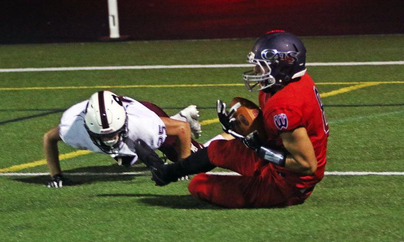 DAN BROOD - Westview senior Matthew Imper made a diving catch at the 1-yard line to set up the Wildcats' second touchdown.
