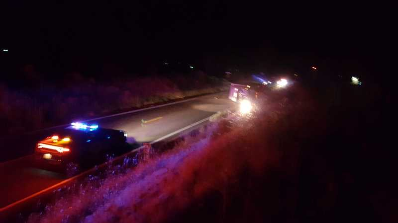 OREGON STATE POLICE - A motorcycle operator collided with a semi-tractor trailer early Saturday on the Madras Highway. The motorcycle operator died at the scene.