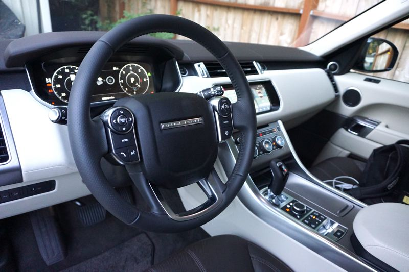 PORTLAND TRIBUNE: JEFF ZURSCHMEIDE - Inside, you get a top-shelf luxury experience in any Range Rover. The Sport HSE is the mid-grade trim, and includes features like heated and ventilated seats and heated steering wheel.