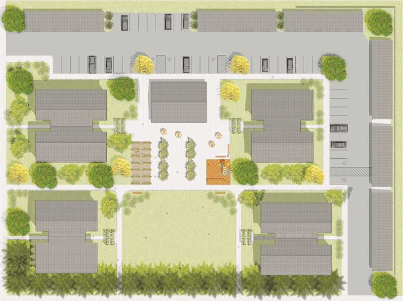 COURTESY RENDERING: FHDC - Pictured is a site plan for Colonia Unidad, which is planned for a city-owned lot near Legion Park.
