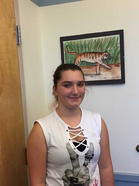 ESTACADA NEWS PHOTO: EMILY LINDSTRAND - Lily Mixon is an eighth grader at Estacada Middle School.