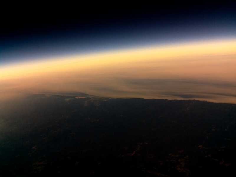 COURTESY: OREGON TECH GRASP CLUB - A view of the Aug. 21 solar eclipse, captured by a camera attached to a balloon launched by Oregon Tech students.