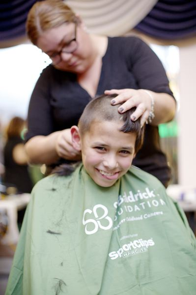 COURTESY PHOTO: ST. BALDRICKS FOUNDATION - About 15 locals signed up to have their heads shaved in Forest Grove Saturday to support childhood cancer research. More participants are wanted.