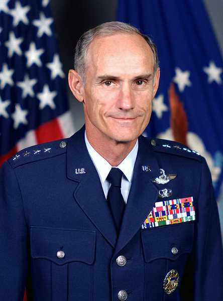 SUBMITTED PHOTO: UNITED STATES AIR FORCE - U.S. Air Force Gen. Merrill 'Tony' McPeak served as Chief of Staff of the Air Force from 1990 to 1994 where he advised both President George H. W. Bush and President Bill Clinton.