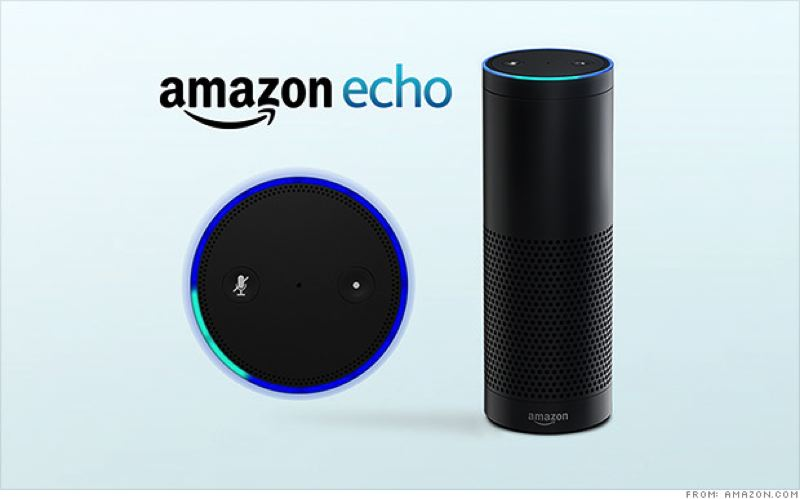 COURTESY AMAZON.COM - The Amazon Echo is the big brothter of the Tap, and its top is sold separtely as a Dot. They all listen to voice commands, answer questions and play music.